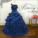Dress flower corsage shoulder strap ♪-gloss Navy color dress ★ Princess line ★ 9-11-no. 13 (Navy Blue) ★ 51077