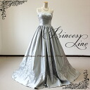 Gorgeous dress prom long gown A line silver grey! Popular embroidery is a beautiful dress! 9 No. 11 no. 13 No. M size L size 437-slvFK