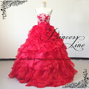 -Cute dress ★ Princess line dress floral embroidered organdy ★ 9-30088 st # 11 (red)