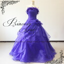NEW back-up dress! 02137-1 flower dress with organza ★ Princess line ★-7 ~ 9 / 9-11 / 13-15-(purple)