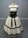 Party dress ★ medium length ★( white X black) wedding ceremony * size designation * 51799 with a lot of size order embroidery ♪ beads