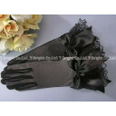 For dress gloves short Glove black ribbon! black (g002)
