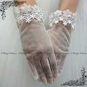 Wedding gloves I (off-white ) lace gloves short gloves wedding Grove wedding party dresses for (g281)