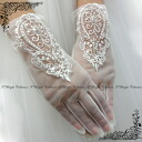 Sale gloves dress for Lace Gloves short gloves off white wedding gloves (g282)