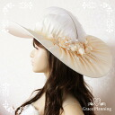 """Satin wedding hat, cream-based""""headdress and collar wide costume Hat flower corsage and with Hat / medieval baronial party wedding dance costumes"""
