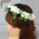 Corolla head dress (off white) wedding flower DIAdem wouldnt Ristretto 2 point set bridal flower motif ornament ★ Corolla ★ h447