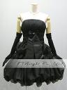 Size order medium length ♪ crape style back laceup party dress ★ minidress ★( black / black) 53136