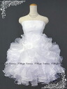 A dress organdy frill for wedding dress minidress (white) second party is shipment 51076w softly on the Cute ♪ 5 - 7 - 9 - 11 same day
