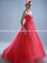 Custom color dress ★ Empire line ★ (Pink) size specified. wedding dress ★ tb079