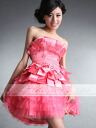 Size order party dress ★ medium length ★ (coral pink )tb143)