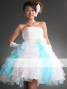 Party dresses size order ★ tall medium ★ ( White x blue ) tb208