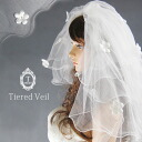 Veil wedding Middle tiered veil off-white wedding Bridal Accessories overseas wedding wedding veil veil flower flower (ve0515) (055)