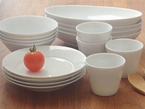 Table ware East  라쿠텐 일본: 식기 세트 Style 흰 식기 패밀리 세트 16 ...
