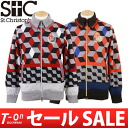 Saint Christopher / cent Christopher / cardigan knit blouson heat storage back aboriginality geometry pattern St.Christopher cent Christopher golf wear fs3gm