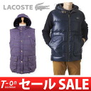 LACOSTE lacoste Japan regular article golf wear fs3gm which can use the lacoste / lacoste Japanese regular article / best down vest reversible checked pattern and wind material both sides