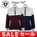 100% of jaggy / jaggy golf / cardigan knit blouson sweater wool color reshuffling design Jaggy Golf jaggy golf golf wear
