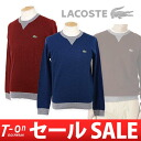 Lacoste / lacoste sports / long sleeves crew neck Japanese regular article wool pullover sweater traditional fashion style LACOSTE golf wear