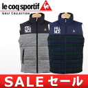 Le Coq / Le Coq Sportif golf blue line / best down vest heat storage full zip best traditional fashion-style le coq sportif GOLF Le Coq Sportif golf blue line golf wear fs3gm