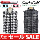 Gaccigolf / gaccigolf / best batting best repellent water insulating Thermolite EVEN posted products double zip-up houndstooth pattern /GOTCHA GOLF gaccigolfgolfware