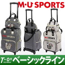 MU SPORTSMU sports with dot pattern ribbon with shoes pocket with MU sports /M.U. sports / M you sports / carrier bag Boston bag cart bag