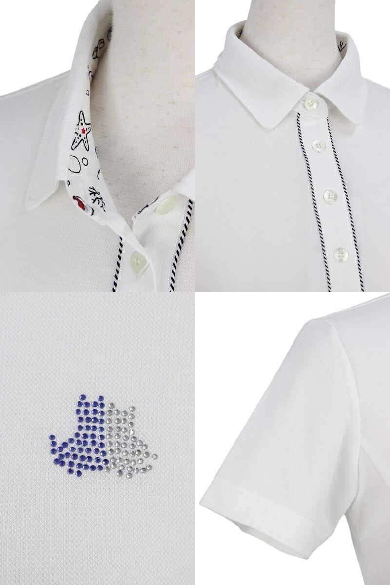 ブラック&ホワイトのポロシャツ画像