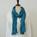 Plain scarf ★ all 10 color cotton crinkle scarf.