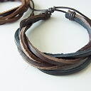 Real leather bracelet leather wristband