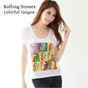 """Colorful vero mark"" lock rock Lady's shortstop length T-shirt"
