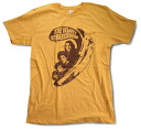 "70's ROCK limited edition t-shirt ""Banana with Band"" yellow Rock T shirt"