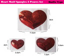 ★☆Three pieces of heart-shaped spangles set ★ hotfix☆