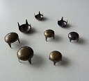 All metal studs ★ round dome type studs 6mm 8mm four-colored (... with 50) DIY