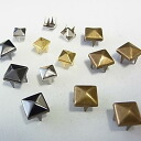 All metal studs ★ pyramid type studs 6mm 8mm four-colored (entering 50) DIY