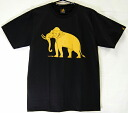 02P25sep13 horse mackerel Ann T-shirt LineTHAI T-shirt black elephant pattern