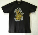 Asian T shirt LineTHAI T shirt black Thailand legendary God Hanuman and plum