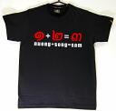 Ekiden02P07Sep11 Asian T shirt LineTHAI Thailand character pattern T shirt black S/M/F/L size