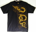 Former WBC boxing world champion veeraphol favorite Asian T shirt LineTHAI T shirt black Naga pattern ( legendary Dragon ) S/M size