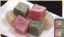 Be) tricolor habutae rice cake 18 pieces
