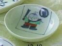 이름 넣어 어린이용 식기 소년 작은 접시 (1 매)