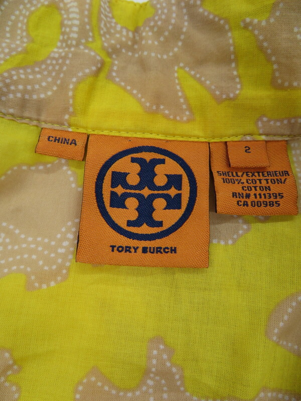 【TORY BURCH】【トップス】トリーバーチ『花柄 長袖チュニック size2』レディース 1週間保証【中古】