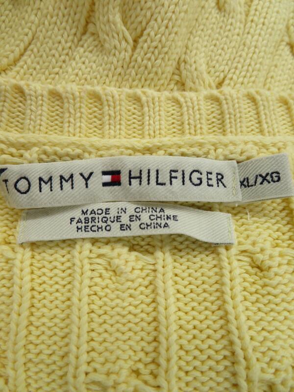【TOMMY HILFIGER】【トップス】トミーヒルフィガー『長袖ニットセーター sizeXL』メンズ 1週間保証【中古】
