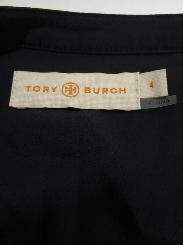 【TORY BURCH】【トップス】トリーバーチ『プルオーバーカットソーsize4』レディース シャツ 1週間保証【中古】