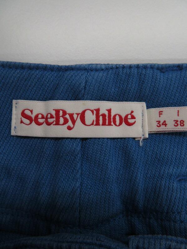 【SEE BY CHLOE】【ボトムス】シーバイクロエ『デニムスカート size38』レディース 1週間保証【中古】