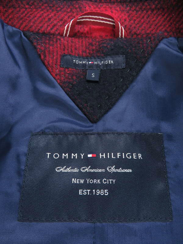 【TOMMY HILFIGER】【アウター】トミーヒルフィガー『チェック柄テーラードジャケット sizeS』レディース 1週間保証【中古】