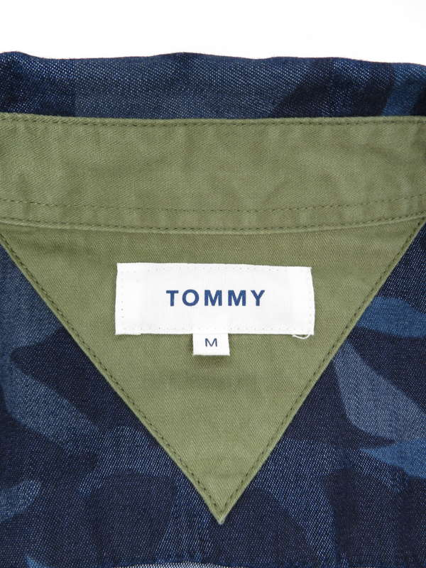 【TOMMY HILFIGER】【トップス】トミーヒルフィガー『カモフラ柄長袖シャツ sizeM』メンズ 1週間保証【中古】