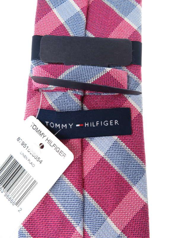 【TOMMY HILFIGER】トミーヒルフィガー『リネンチェック柄ネクタイ』メンズ 1週間保証【中古】