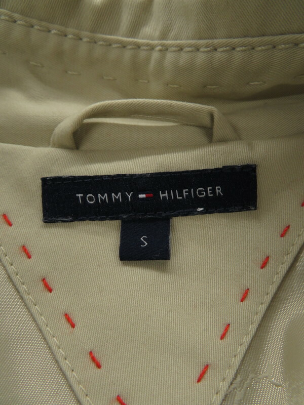 【TOMMY HILFIGER】【アウター】トミーヒルフィガー『トレンチコート sizeS』レディース 1週間保証【中古】