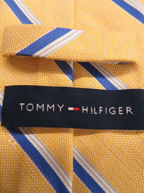 【TOMMY HILFIGER】トミーヒルフィガー『麻混ネクタイ』メンズ 1週間保証【中古】