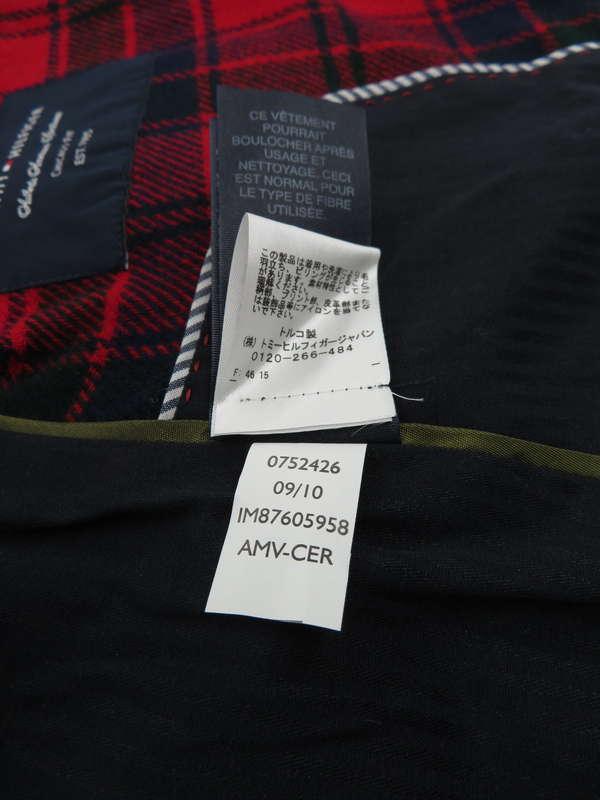 【TOMMY HILFIGER】【アウター】トミーヒルフィガー『チェック柄テーラードジャケット size6』レディース 1週間保証【中古】
