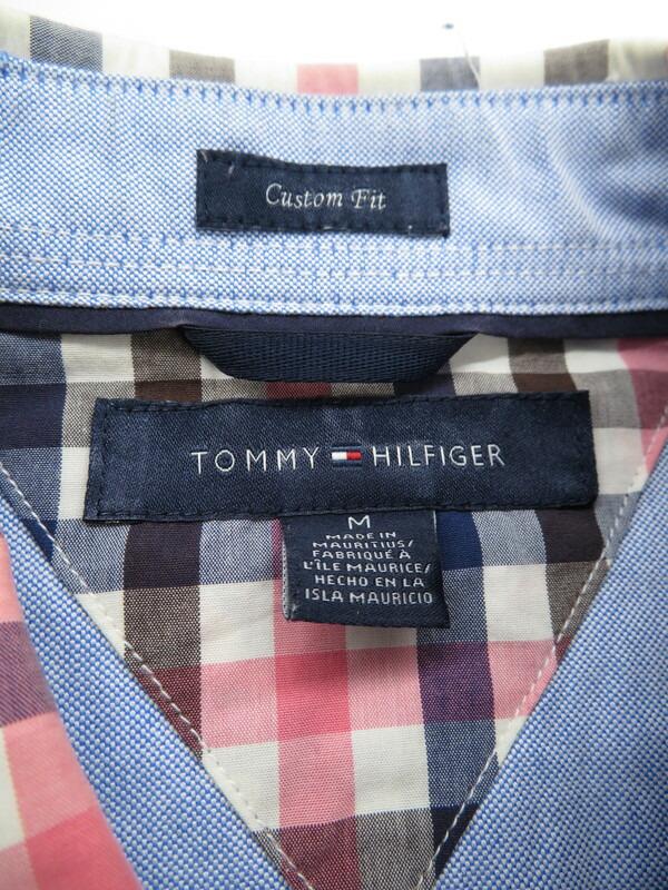 【TOMMY HILFIGER】【トップス】トミーヒルフィガー『ボタンダウン長袖シャツ sizeM』メンズ 1週間保証【中古】