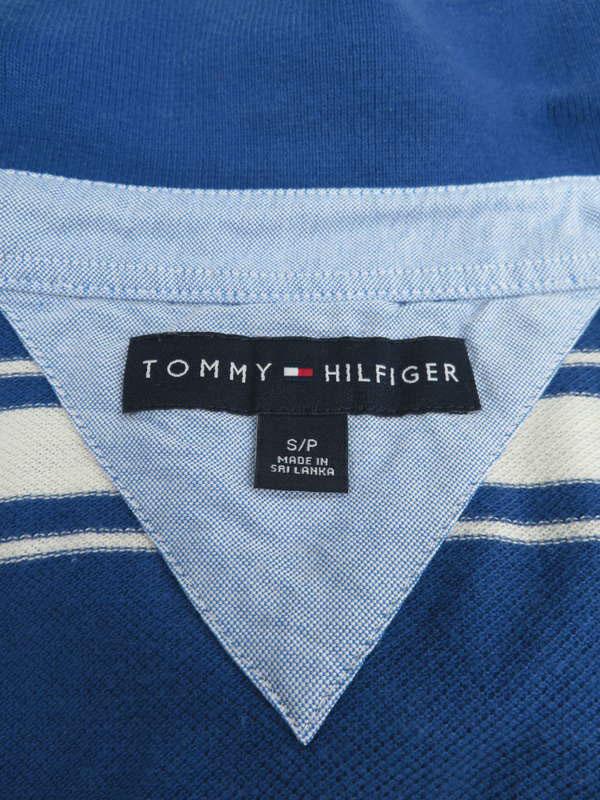 【TOMMY HILFIGER】【トップス】トミーヒルフィガー『長袖ポロシャツ sizeS/P』メンズ 1週間保証【中古】